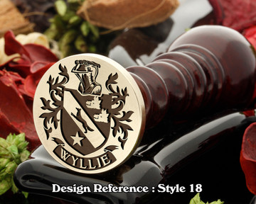 Wyllie Family Crest Wax Seal D18