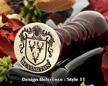 Bevington Family Crest Wax Seal D11