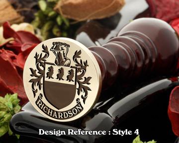 Richardson Family Crest Wax Seal D4