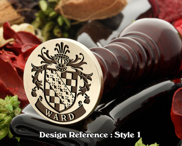 Ward Family Crest Wax Seal D1