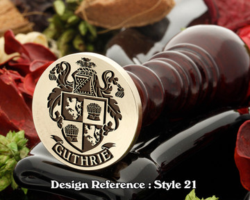 Guthrie Family Crest Wax Seal D21