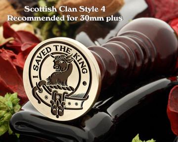 Turnbull Scottish Clan Wax Seal D4