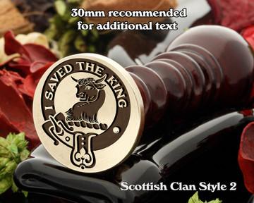 Turnbull Scottish Clan Wax Seal D3