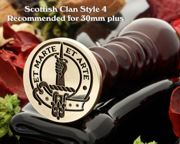 Bain Scottish Clan Wax Seal D4