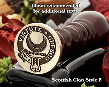 Leask Scottish Clan Wax Seal D2