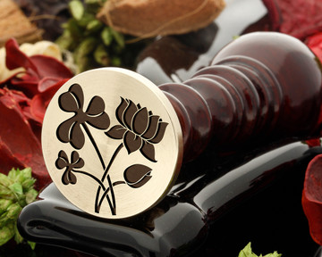 Shamrock and Water Lily Wax Seal Stamp