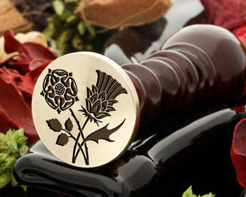 Rose and Thistle Wax Seal D2