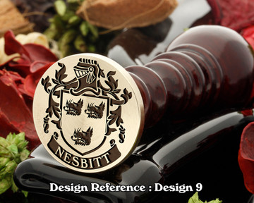 Nesbitt 1 Family Crest Wax Seal D9