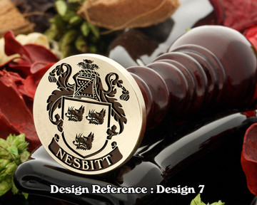 Nesbitt 1 Family Crest Wax Seal D7