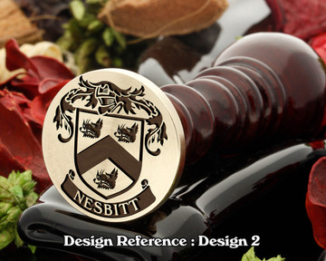 Nesbitt 2 Family Crest Wax Seal D2