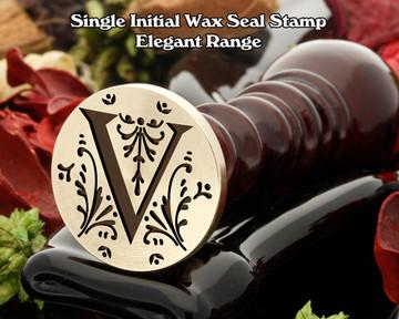 Elegant Range Wax Seal Initial V