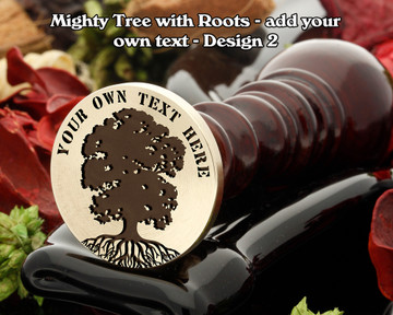 Mighty Oak Tree with Roots D2 with additional top text