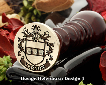 Vernon Family Crest Wax Seal D1