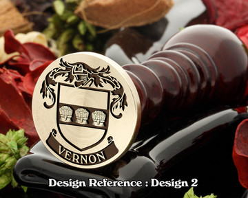 Vernon Family Crest Wax Seal D2