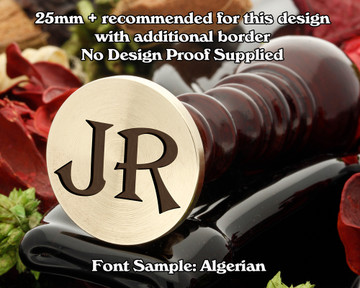 Algerian Two Initial Wax Seal example