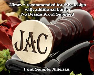 Algerian Three Initial Wax Seal Sample
