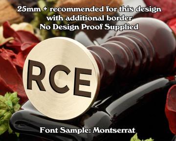 Montserrat Three Initial Wax Seal example