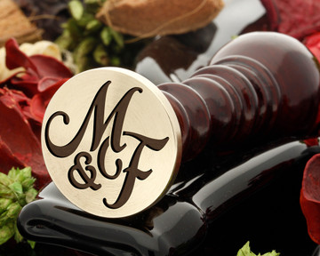 M&F Wax Seal Monogram (photo reversed)