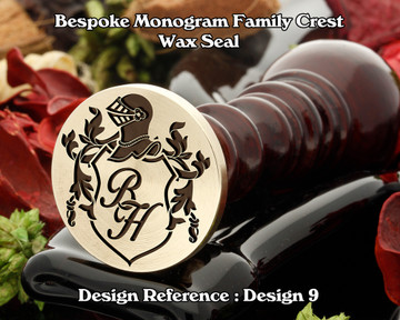 Monogram Family Crest Wax Seal D9 with no name