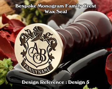 Monogram Family Crest Wax Seal D5