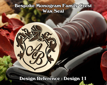 Monogram Family Crest Wax Seal D11 with no name