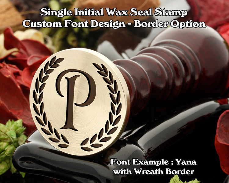 Single Initial Design Example P, font sample 'Yana'