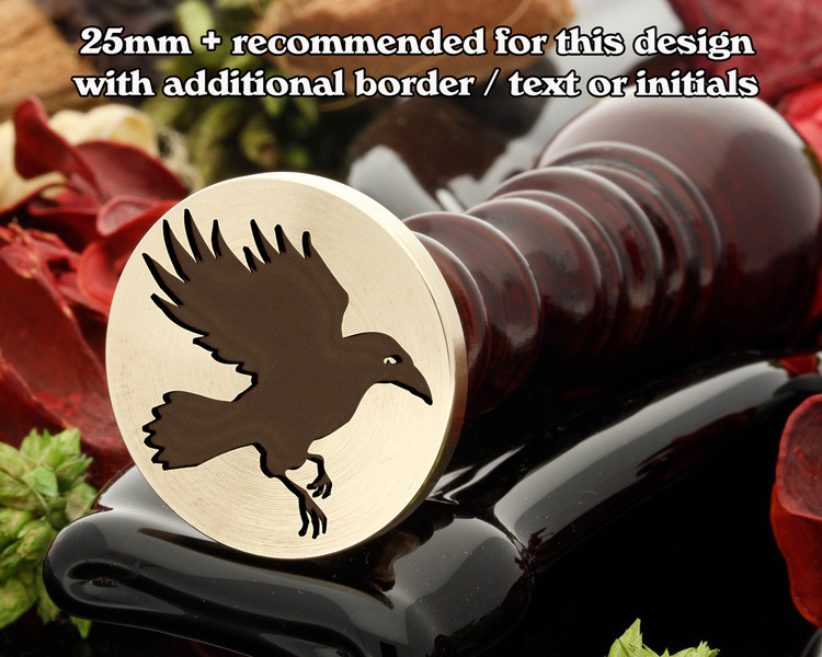 Raven in flight Wax Seal Stamp