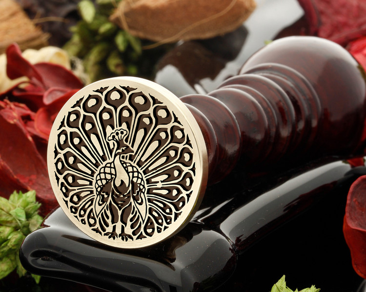 Peacock 2 Wax Seal Stamp
