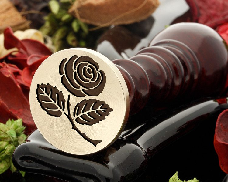 Rose 3 wax seal