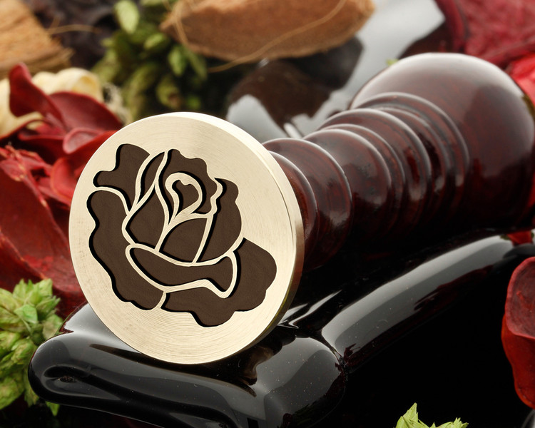 Rose 5 wax seal stamp