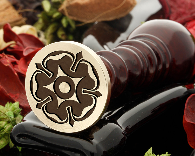 Tudor rose 1 wax seal