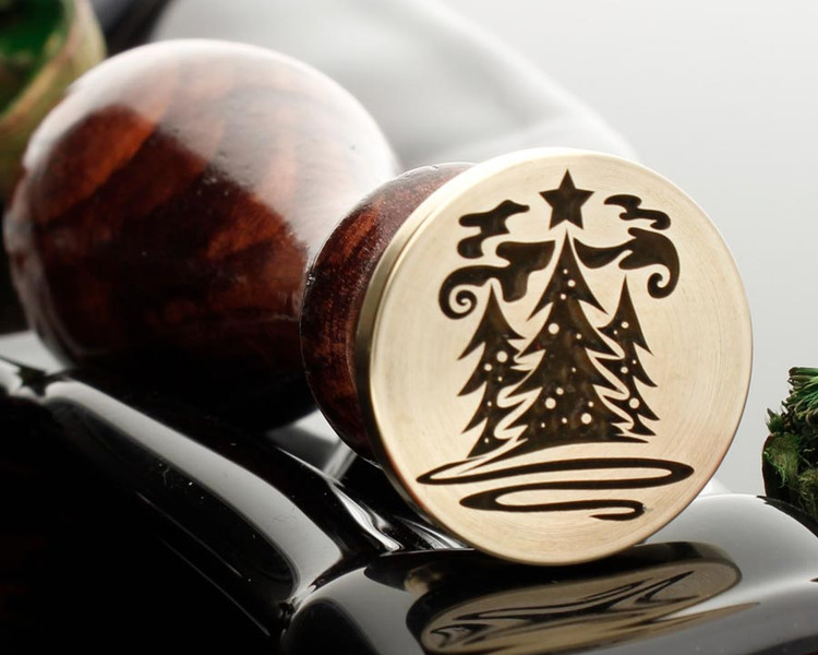 Three Christmas Trees Wax Seal