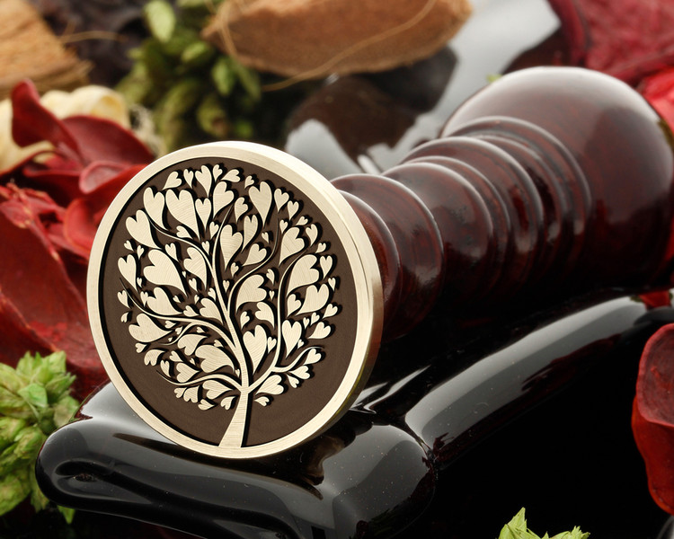 Tree of love wax seal
