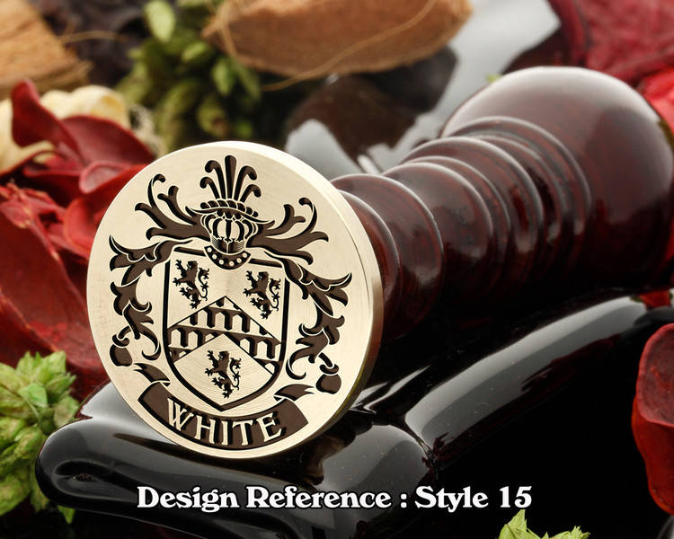 White Family Crest Wax Seal D15