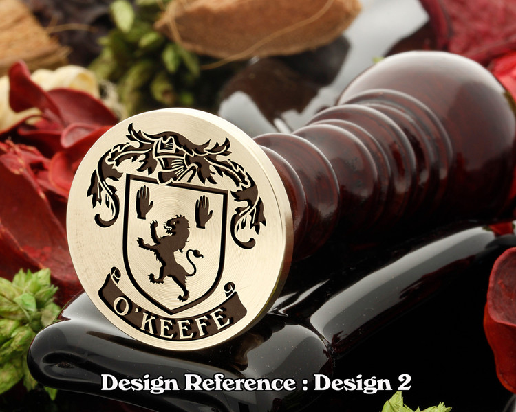 O'Keefe Family crest wax seal