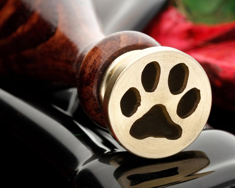 Cat Paw wax seal stamp laser engraved