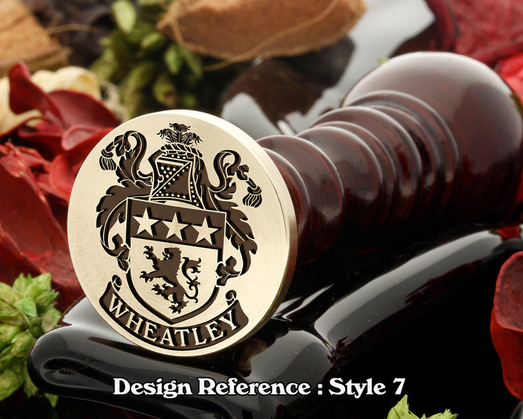 Wheatley Family Crest Wax Seal D7