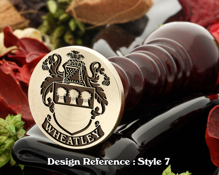 Wheatley (English) Family Crest Wax Seal D7