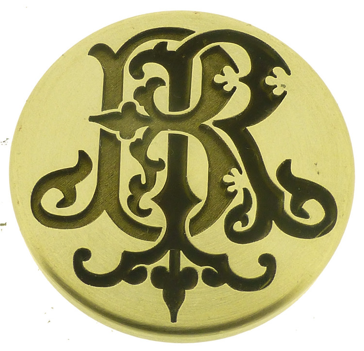 Design 3 - Engraved wax seal, photo reversed for viewing.