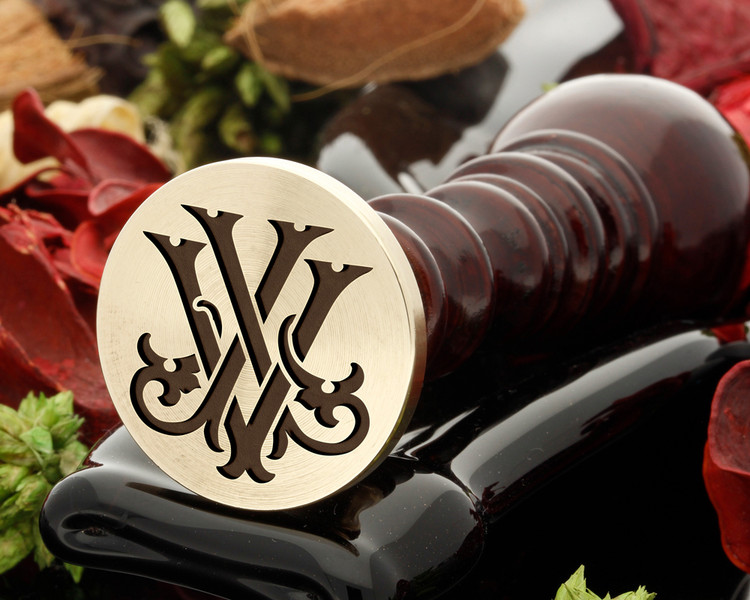JV VJ VICTORIAN MONOGRAMS Wax Seal Stamp