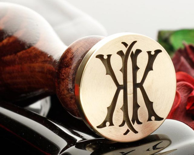 Victorian Monogram Wax Seal KK design 1