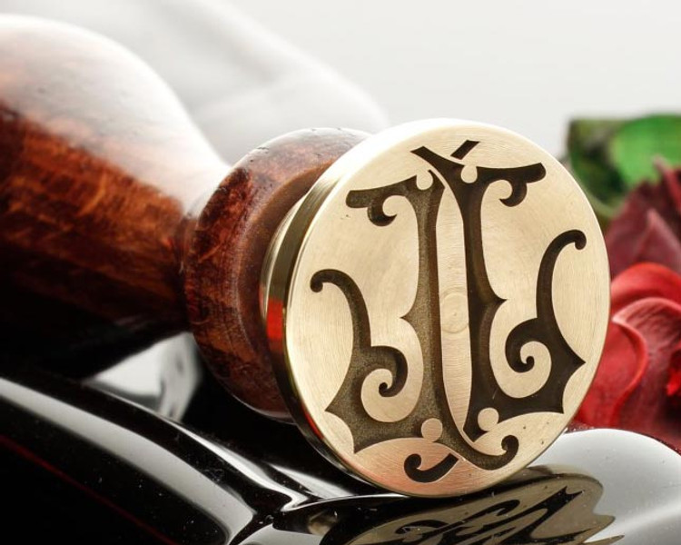 Victorian Monogram Wax Stamp LL design 1