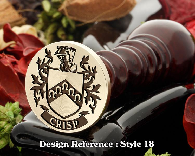 Crisp Family Crest Wax Seal D18
