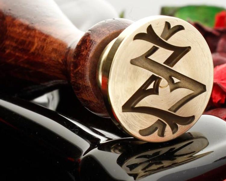 Victorian Monogram Wax Seal ZZ design 1