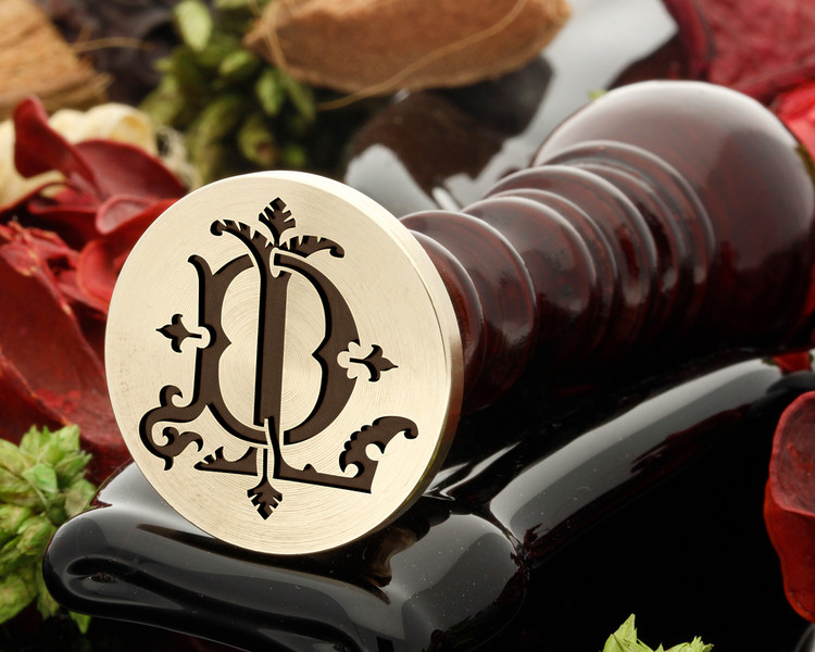 DL LD VICTORIAN MONOGRAMS Wax Seal Stamp