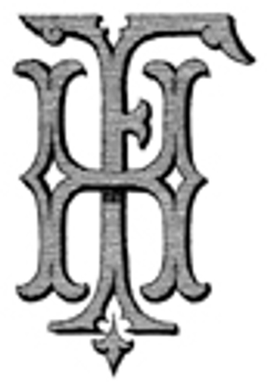 FH HF VICTORIAN MONOGRAMS Wax Seal Stamp from 25mm