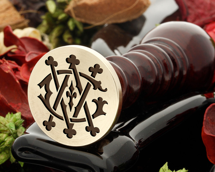 GV VG VICTORIAN MONOGRAMS Wax Seal Stamp