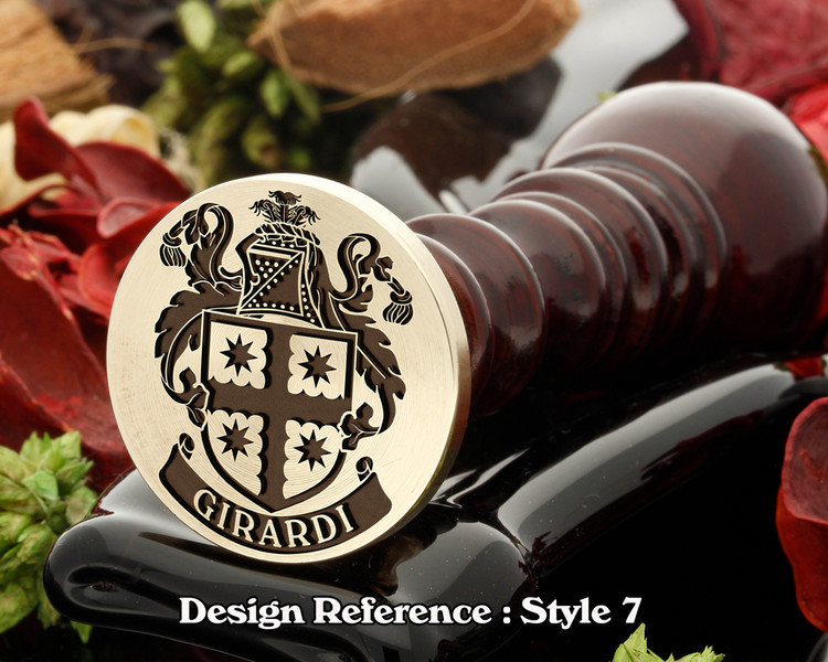 Girardi Family Crest Wax Seal D7