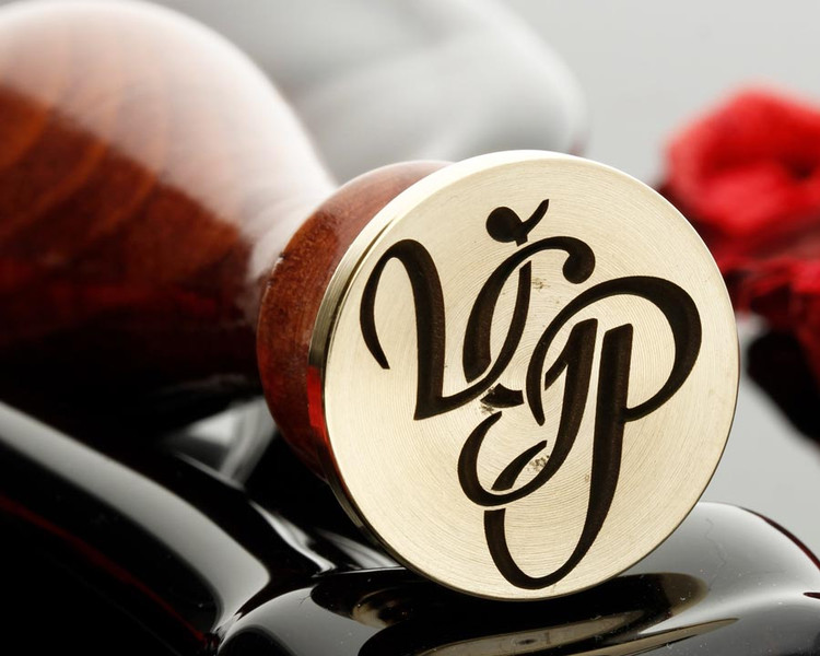 VGP Monogram wax seal photo reversed, all the same size