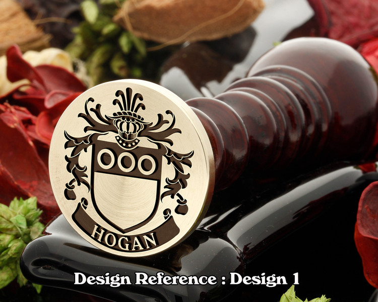 Hogan Family Crest Wax Seal D1